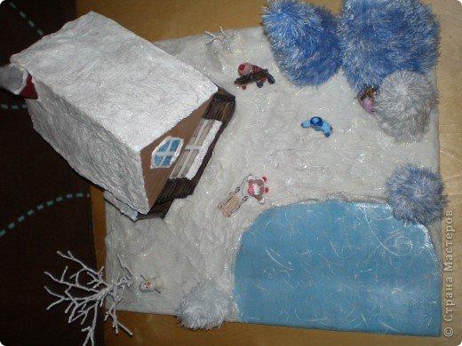 """Проект Макет: Наш макет """"Рождественское утро"""". На выставку. Бумага Рождество. Фото 32"""
