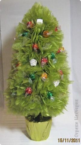 Мастер-класс, Свит-дизайн: МК елочки из конфет Новый год. Фото 26