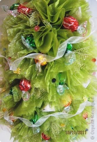 Мастер-класс, Свит-дизайн: МК елочки из конфет Новый год. Фото 33
