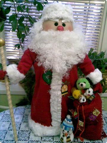 Мастер-класс Шитьё: дед мороз и МК Ткань Новый год. Фото 1