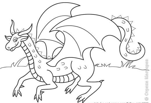 Картина, панно Квиллинг: Дракончик Бумажные полосы Новый год. Фото 2