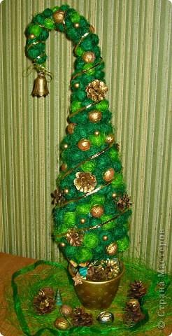 Мастер-класс: Елочка с помпончиков сизаля !!  мк Новый год.  Фото 1