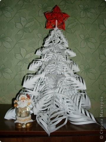 Поделка, изделие Бумагопластика: Новогодняя ёлка Бумага Новый год. Фото 1