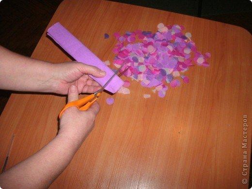 Сирень из бумаги гофрированной бумаги