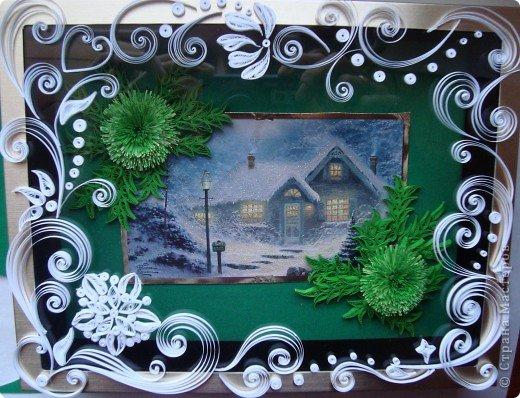 Картина, панно Квиллинг: И от меня небольшая порция новогодних радостей!!! Бумага. Фото 3