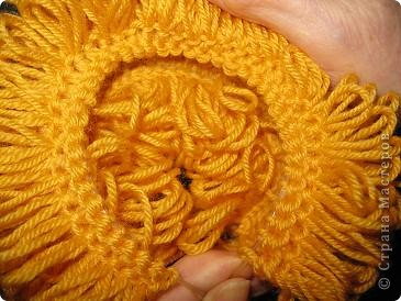 Мастер-класс Вязание: МК по созданию волос для кукол Нитки Дебют. Фото 10