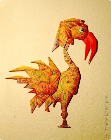 Мастер-класс Роспись: Птица Марабу.. Фото 1