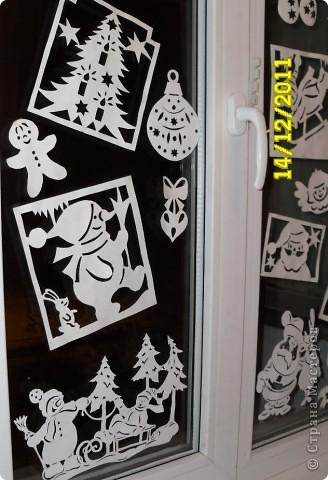 Украшение Вырезание, Вырезание силуэтное, Вытынанка: Ура!!! Наши окна готовы Новый год встречать! (+шаблоны) Бумага Новый год. Фото 13