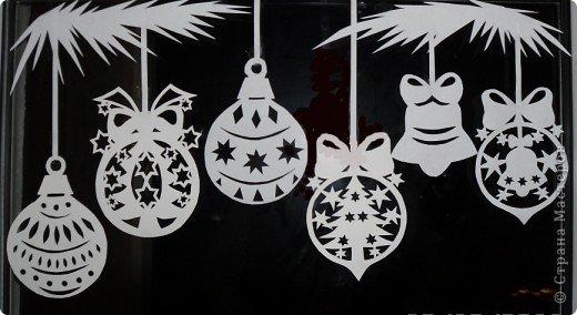Украшение Вырезание, Вырезание силуэтное, Вытынанка: Ура!!! Наши окна готовы Новый год встречать! (+шаблоны) Бумага Новый год. Фото 6