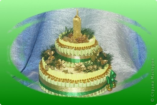 Торт из бумаги своими руками со свечками 31