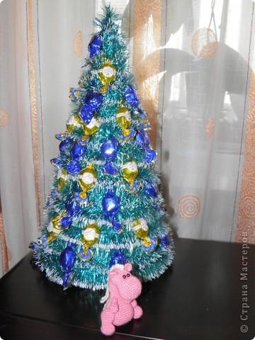Мастер-класс, Свит-дизайн Ассамбляж: Ёлка 2011 (МК) Картон, Продукты пищевые, Скотч Новый год. Фото 12