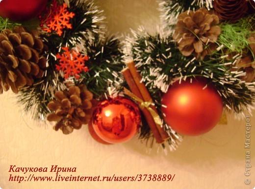 Интерьер, Мастер-класс: Рождественский венок Клей, Материал природный, Пенопласт, Шишки Новый год, Рождество. Фото 6