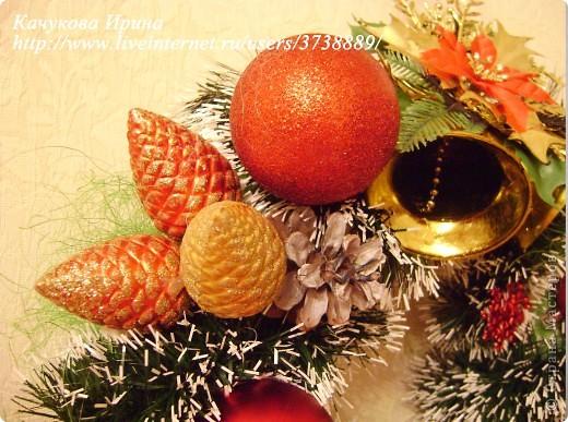 Интерьер, Мастер-класс: Рождественский венок Клей, Материал природный, Пенопласт, Шишки Новый год, Рождество. Фото 7