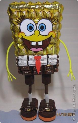 Хочу с Вами поделится МК по созданию любимого детками мультяшного героя Губки Боба.. Фото 1