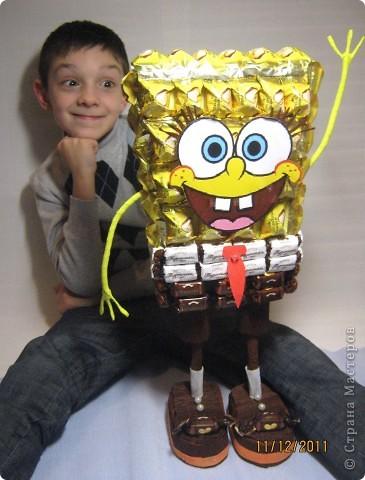 Хочу с Вами поделится МК по созданию любимого детками мультяшного героя Губки Боба.. Фото 39