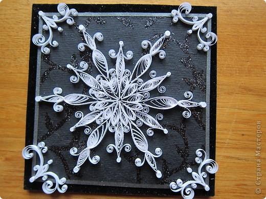 Поделка, изделие Квиллинг: новогодние магнитики Бумажные полосы Новый год. Фото 5