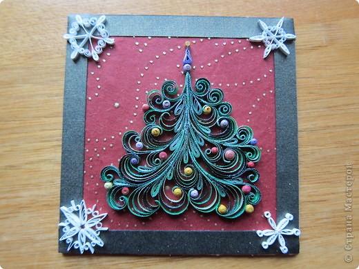 Поделка, изделие Квиллинг: новогодние магнитики Бумажные полосы Новый год. Фото 1