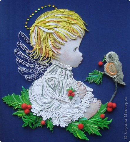 Картина, панно, рисунок Квиллинг: К прошедшим праздникам... Бумага Рождество. Фото 1