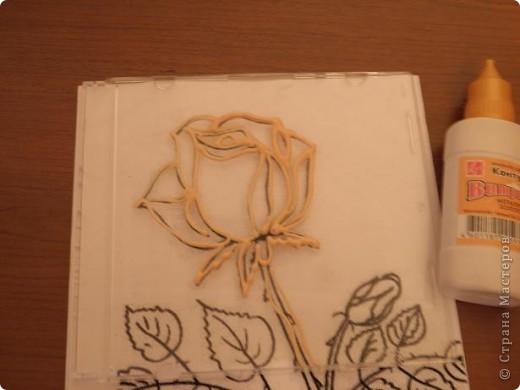 Мастер-класс Витраж: Витражная роза Стекло. Фото 4