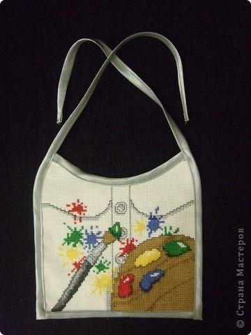 Гардероб Вышивка, Шитьё: Слюнявчики Канва, Нитки, Ткань. Фото 1