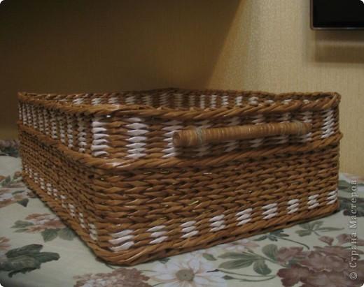 Мастер-класс Декупаж, Плетение: Коробка для хранения, мини-МК новичкам Бумага газетная, Бумажные полосы, Клей, Прищепки. Фото 8