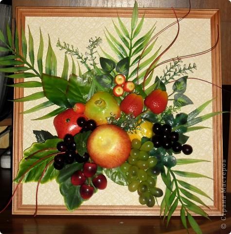 Картины из искусственных фруктов своими руками мастер класс