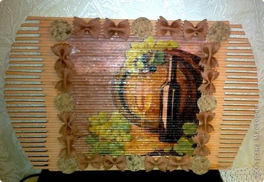 Картина, панно, Мастер-класс Декупаж: Панно для кухни из газетных трубочек Бумага журнальная 8 марта. Фото 1