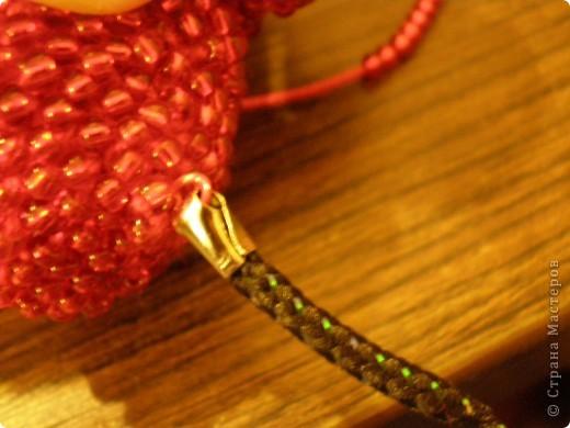 Мастер-класс, Презент от Голубки Вязание крючком: Бисерное сердце. МК Бисер, Пряжа Валентинов день. Фото 8