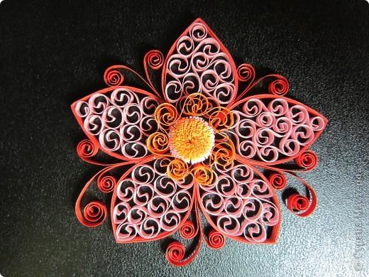 Мастер-класс, Поделка, изделие Квиллинг: Сказочный цветок + мини МК Бумажные полосы. Фото 1