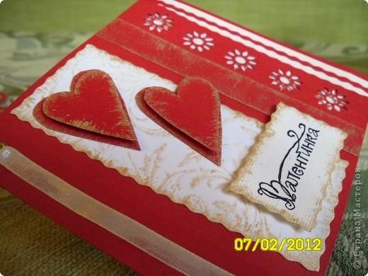 Открытка Вырезание, Квиллинг, Торцевание: Валентины...валентинки...валентиночки... Бисер, Бумага, Бумага гофрированная, Бумажные полосы, Бусинки 8 марта, Валентинов день, День рождения. Фото 12
