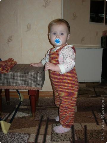 Гардероб, Мастер-класс Вязание крючком: Мой фирменный комбинезон для малыша Пряжа. Фото 1