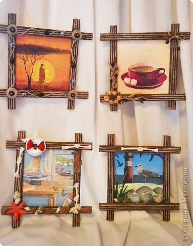 Мастер-класс, Рамочки: Эконом рамки для ваших творений!!! Бумага, Клей, Краска, Шпагат. Фото 1