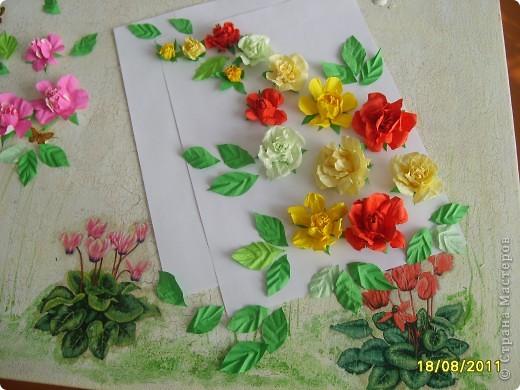 Мастер-класс Бумагопластика: Почти настоящие розы Бумага 8 марта, Валентинов день. Фото 1
