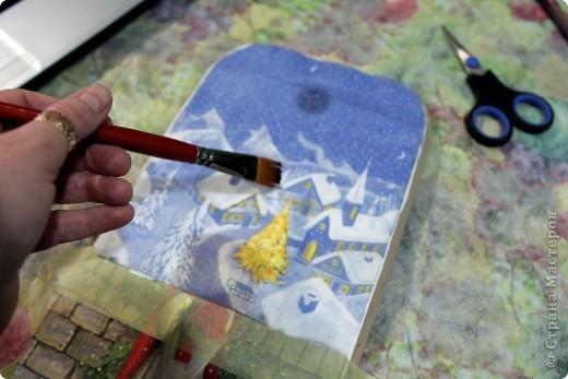 Декор предметов, Мастер-класс Декупаж: как соединить 2 салфетки м\к Салфетки Новый год. Фото 14