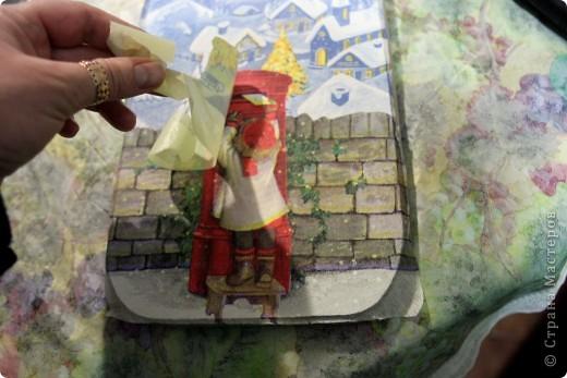 Декор предметов, Мастер-класс Декупаж: как соединить 2 салфетки м\к Салфетки Новый год. Фото 20