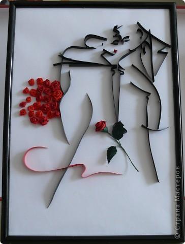 Картина, панно Квиллинг: Танго Бумажные полосы. Фото 1