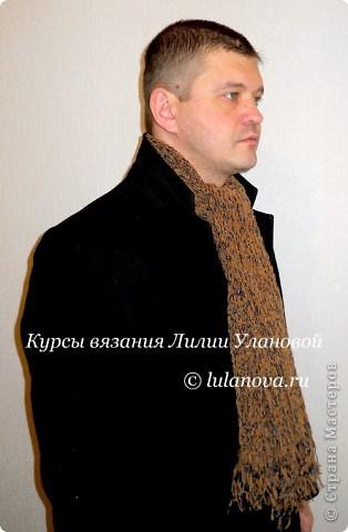 модный мужской шарф.