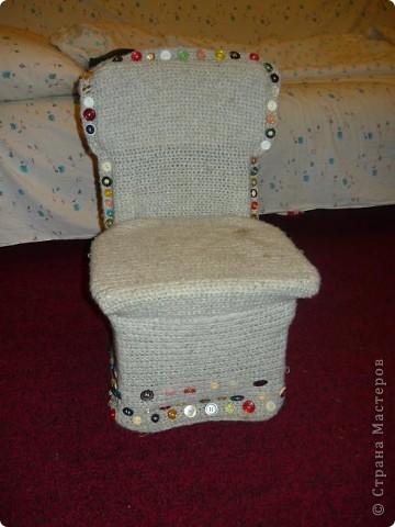 Интерьер Вязание крючком: Вязанный стул Нитки.