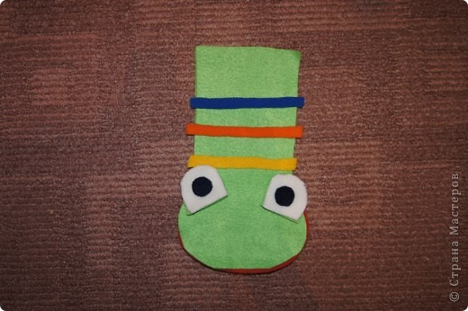Игрушка, Мастер-класс Шитьё: Лягушка на руку + МК. Ткань. Фото 8