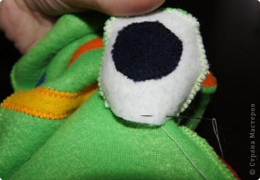 Игрушка, Мастер-класс Шитьё: Лягушка на руку + МК. Ткань. Фото 15
