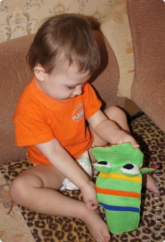 Игрушка, Мастер-класс Шитьё: Лягушка на руку + МК. Ткань. Фото 19