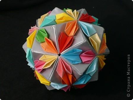 Мастер-класс Кусудама: Confetti. Туториал  Бумага. Фото 1