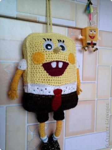 Вязание крючком: Спанч Боб Нитки.
