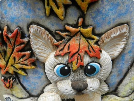 Картина, панно, рисунок, Мастер-класс Лепка: Листья желтые над городом кружатся... Тесто соленое Праздник осени. Фото 5