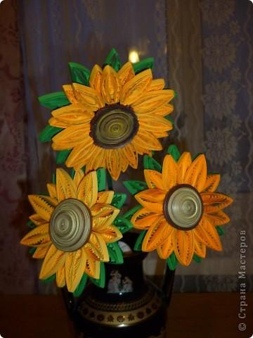 Мастер-класс Квиллинг: Цветок - солнце Бумажные полосы. Фото 1
