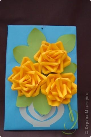 Мастер-класс Аппликация: Желтые цветочки.. Бумага. Фото 1