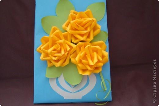Мастер-класс Аппликация: Желтые цветочки.. Бумага. Фото 2