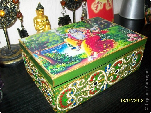 Декор предметов Декупаж: Немного Индийского Салфетки. Фото 1