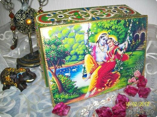 Декор предметов Декупаж: Немного Индийского Салфетки. Фото 5