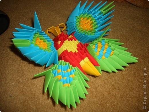 Мастер-класс Оригами модульное: Бабочка из модулей. Бумага 8 марта, Валентинов день, День матери, День рождения. Фото 1